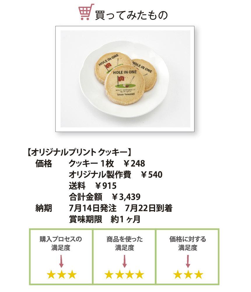 オリジナルプリントクッキーの評価