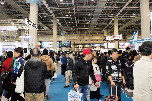 フィッシングショーOSAKA2019の会場の写真