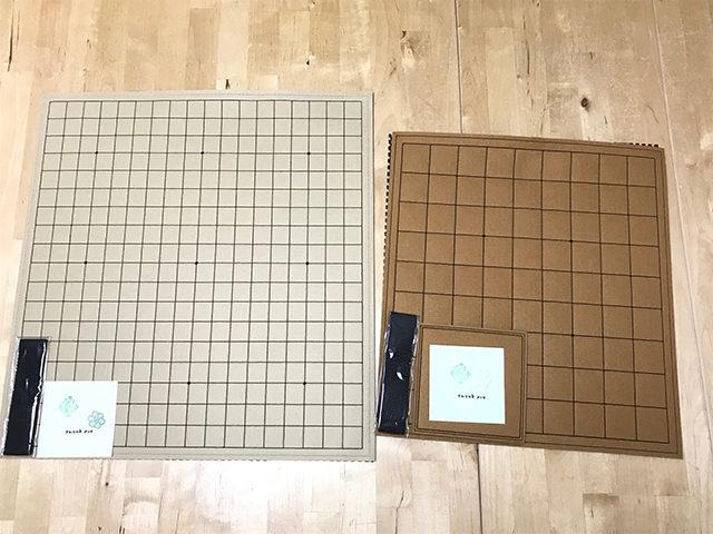 ミシン刺繍で作るフェルト碁盤と将棋盤