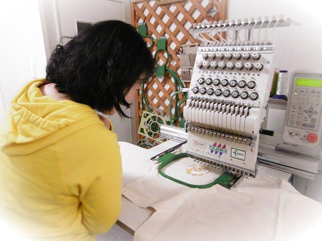 刺繍教室の様子