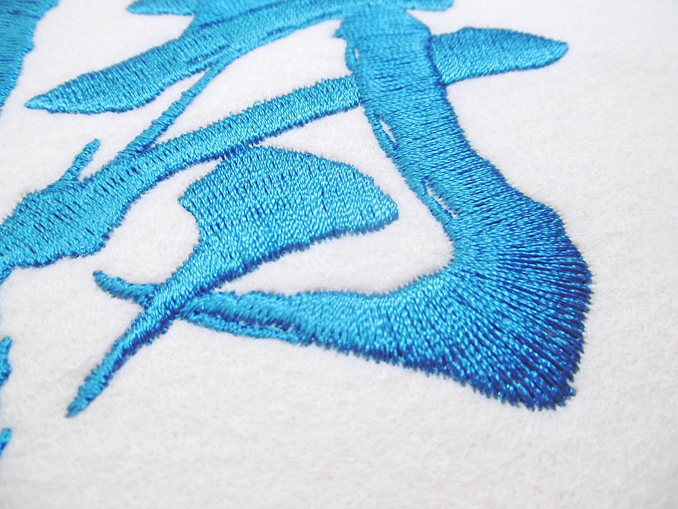 中間縫いの拡大写真。