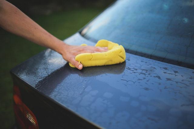 洗車する様子