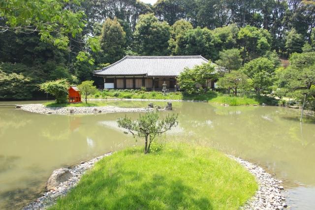 平安時代の浄瑠璃寺の様子。この頃にはすでにしおりの原型があった。